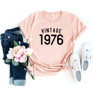 Vintage 1976 Shirt, 44th Birthday Gift For Women  Men Shirt