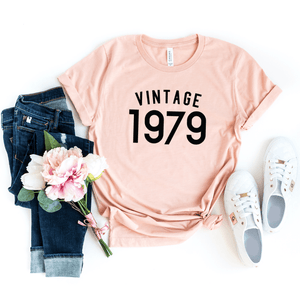 Vintage 1979 Shirt, 41st Birthday Gift For Women  Men Shirt