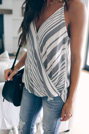 Stylish Stripe Patchwork Tank Top