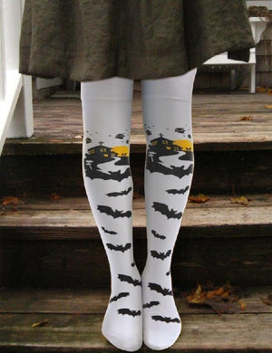 Halloween Bat Thigh-High Socks
