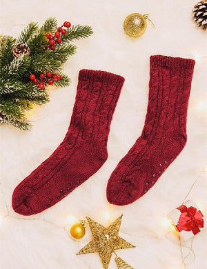 Knitted Warm Comfortable Plush Socks
