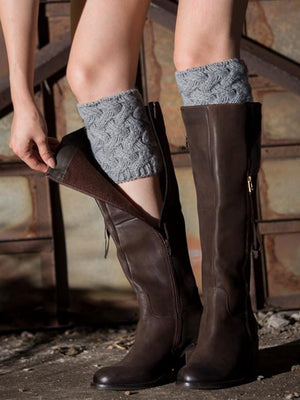 Women Floral Boot Cuffs Leg Warmer Socks
