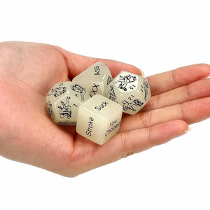 Luminous Adult Sex Dice for Couples