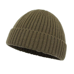 Solid Knitted Skull Cap