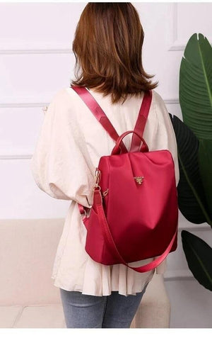 Cool Retro Multi-Functional Backpack-Red