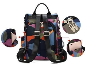 Cool Retro Multi-Functional Backpack-Feather 1