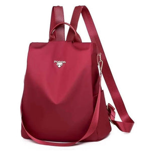 Cool Retro Multi-Functional Backpack-Bright Red