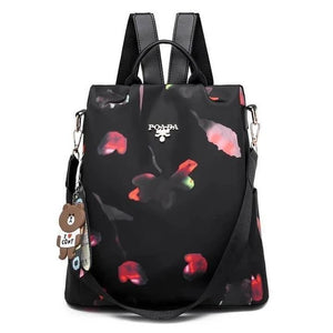 Cool Retro Multi-Functional Backpack-Black