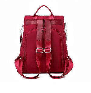 Oxford Simple style Anti-theft Ladies Backpack