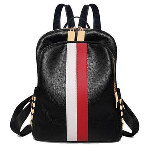 Women PU Leather Backpack Casual Shoulders Bag