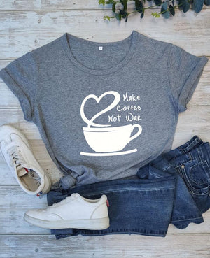 Make Coffee No War T-shirt