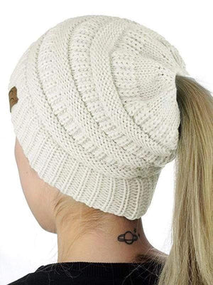 Solid Warm Knitted Hat