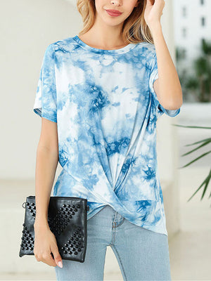 Women Printed Short Sleeve Tee T-shirt