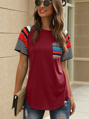 Women Stripes Tee T-shirt
