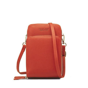 Crossbody Leather Cell Phone Shoulder Bag