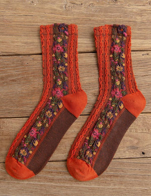 Retro Floral Socks