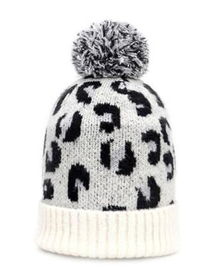 Leopard Knitted Hat