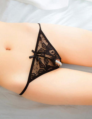Imitated Pearl Crotchless G-String