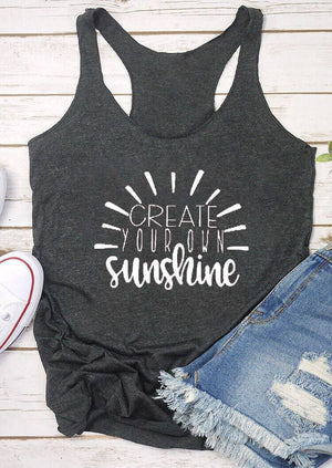 Create Your Own Sunshine Racerback Tank