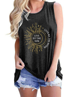 Live By The Sun Love By The Moon Tank Top - Style B