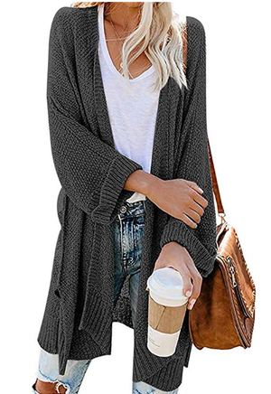 Women Knitted Loose Solid Sweater