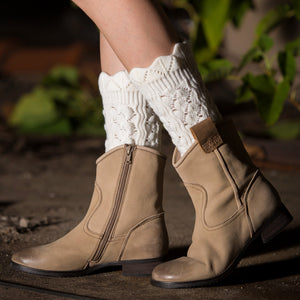 Women Hollow Boot Cuffs Leg Warmer