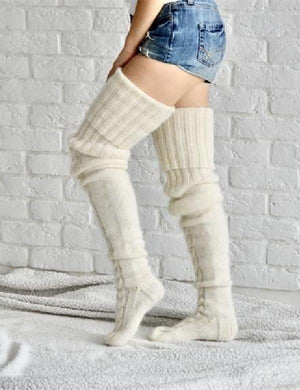 Over Knee Knitted Socks