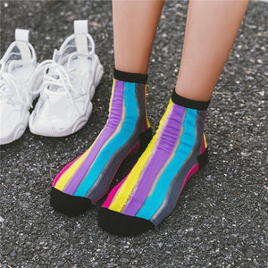 Women's Breathable RainBow Socks