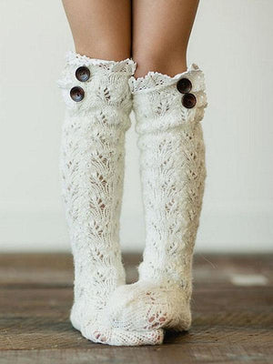Ladies Lace Over Knee Socks