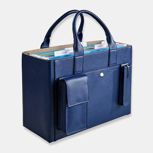 Women Leather Three-piece Set Large Capacity Portable Business Handbag