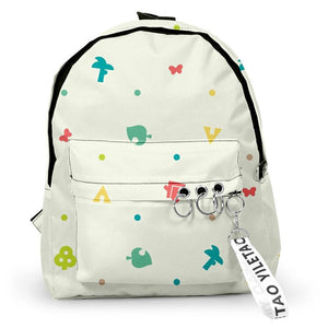 Animal Crossing Game Backpack Student School Bag Game Fans Gift Travel Backpack Daypack
