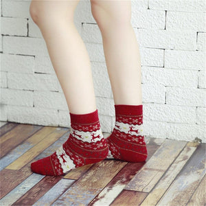 Vintage Christmas Socks