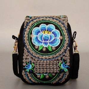 Vintage Floral Embroidery Crossbody Bag - $15 PROMO FREE SHIPPING TODAY ONLY