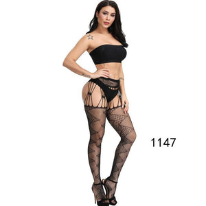 Thigh High Fishnet Belt Standard Over Knee Socks Sexy Lingerie Stockings