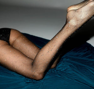 Crystal Fishnet Stockings Tights Rhinestone Pantyhose Sexy Lingerie