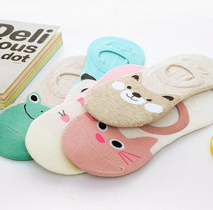 Candy Color Animal Face Socks