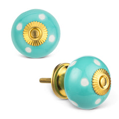 Cindy Mint Dot Knob