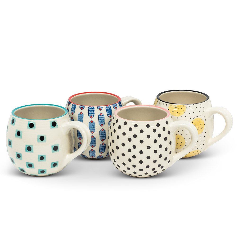Tess Mugs, Set of 4