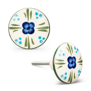 Flower Garden Knobs, Set of 2