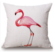 Load image into Gallery viewer, Pink Flamingo Cushion Covers, Set of 2