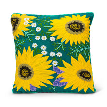 Load image into Gallery viewer, Sunflower Burst Pillow