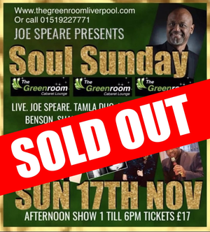 Sun 17th Nov - Joe Speare Presents Soul Sunday