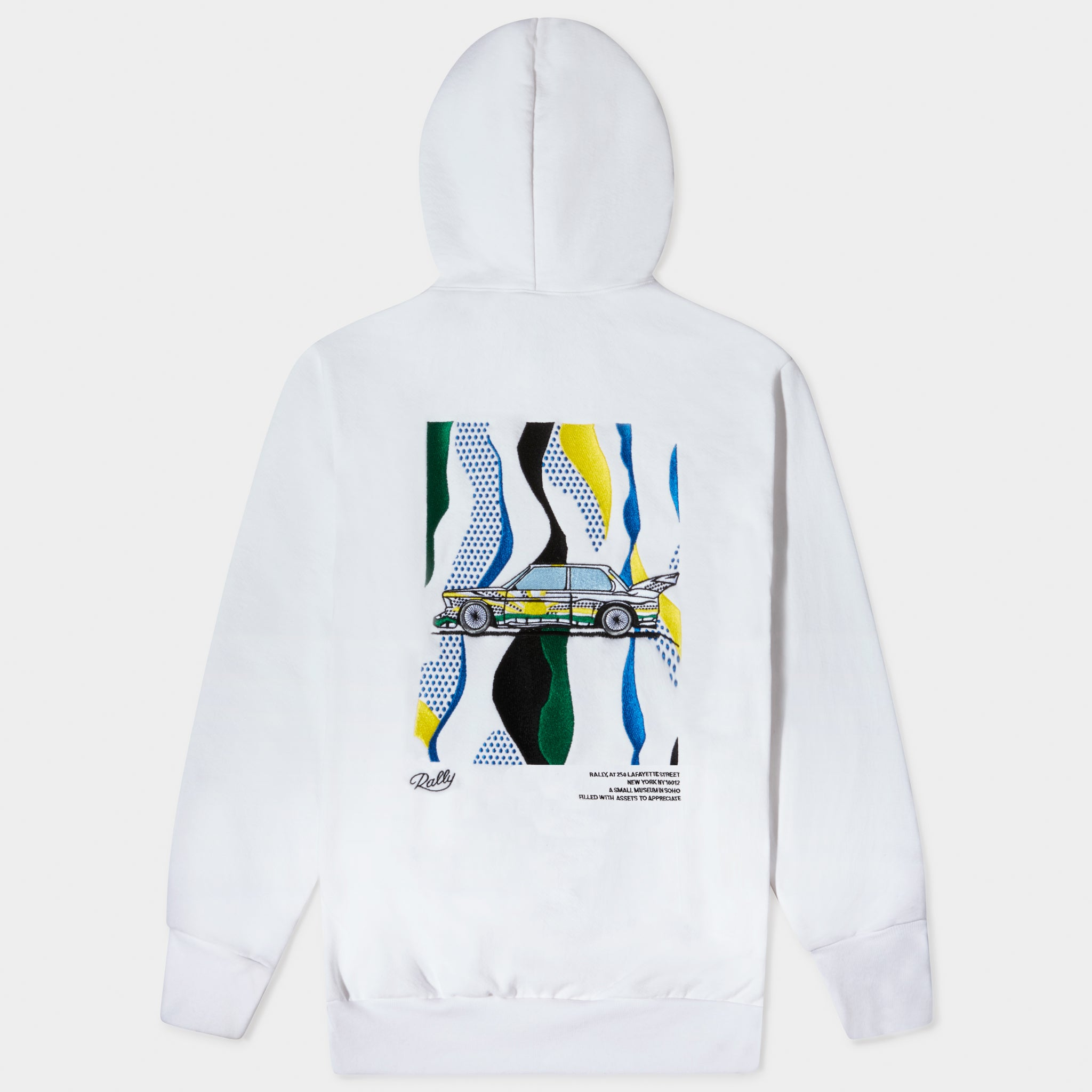 ART CAR HOODED SWEATSHIRT