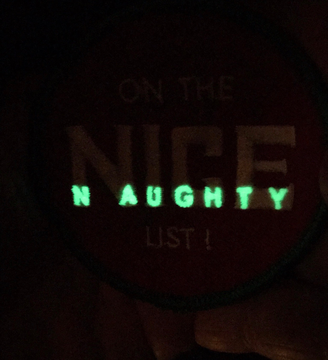 On The Nice/Naughty List Badge