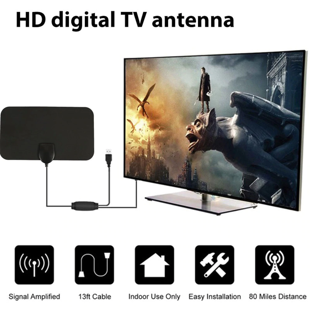 HDTV Free Cable Antenna with Signal Booster