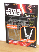 Load image into Gallery viewer, Star Wars The Force Awakens Metal Earth Kylo Ren's Command Shuttle Metal Model Kit