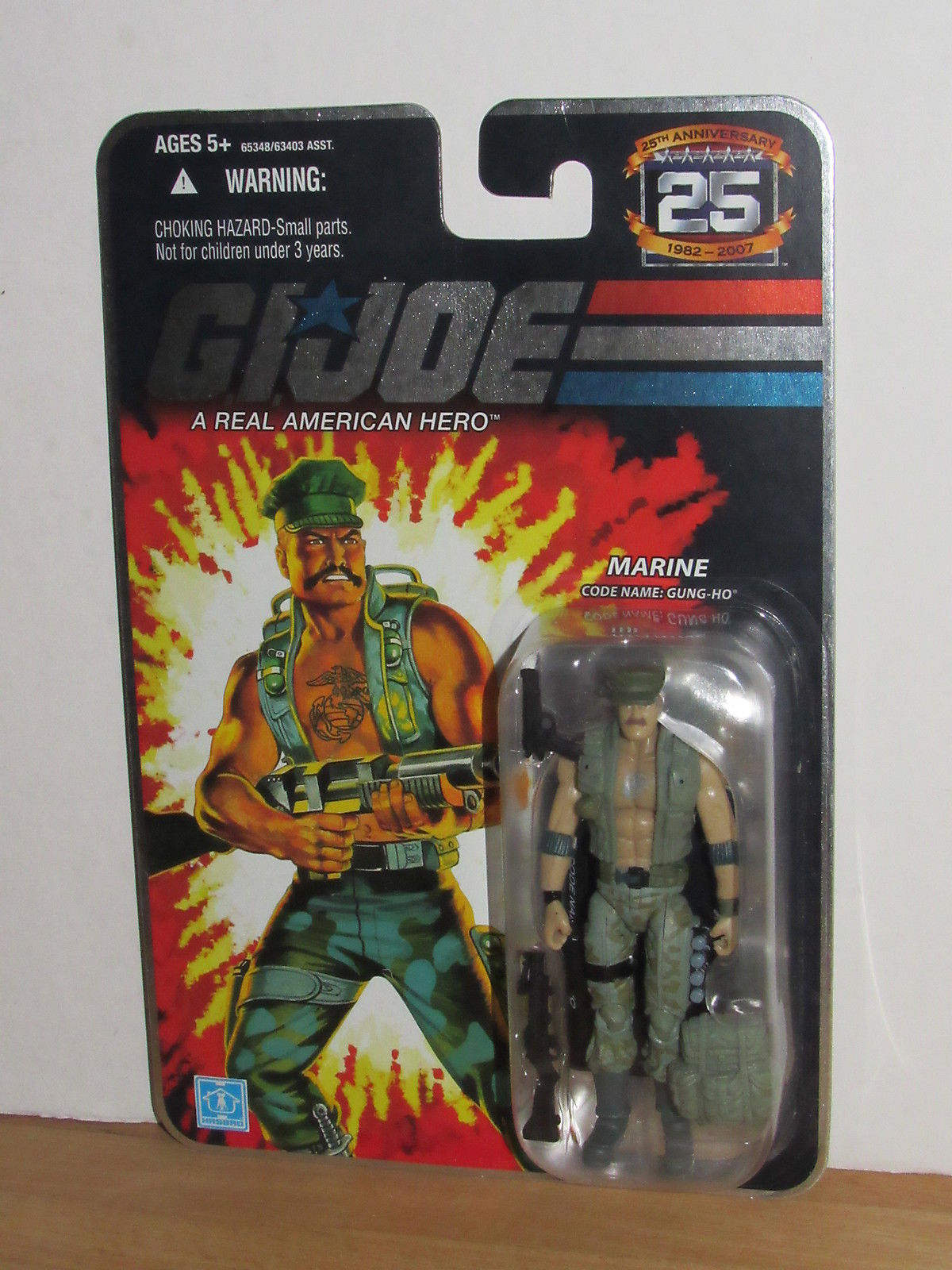 GI JOE 25th ANNIVERSARY FOIL CARD FIGURE COBRA the Enemy  MOC