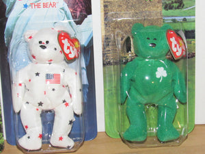 Ty Beanie Babies McDonalds International Bears Set of 4 (Maple, Glory, Britannia, & Erin)