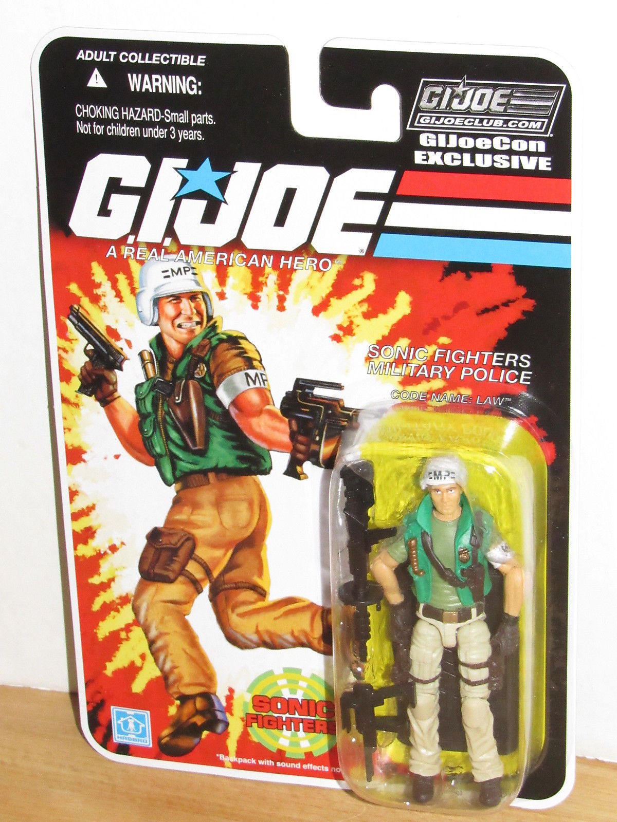 GI Joe JoeCon 2018 Exclusive Sonic Fighters Law
