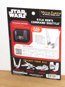 Star Wars The Force Awakens Metal Earth Kylo Ren's Command Shuttle Metal Model Kit